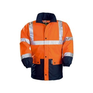 Regenjacke Harbor (fluoreszierendes orange / marineblau)