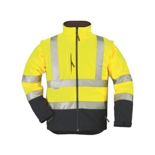 Hi-viz Softshell jacket Station (yellow / navy) XL