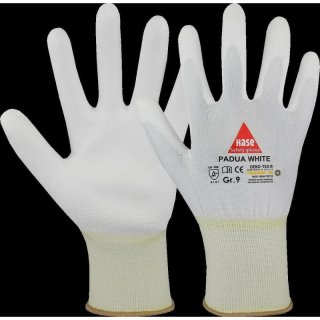 Assembling gloves Padua white 11