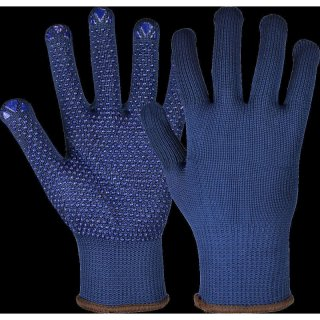 Knitted gloves Namur Blue