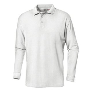 Long-sleeved polo-shirt (white) XL